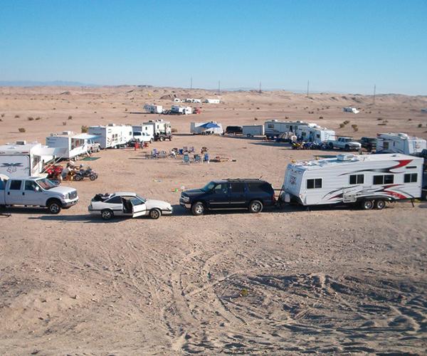 RV Rentals Ocotillio Wells Desert